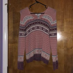 Sweaters - Pink and purple with blue accent sweater